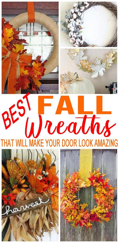 Diy Fall Wreath Fall Wreaths Diy Easy Easy Fall Wreaths Easy