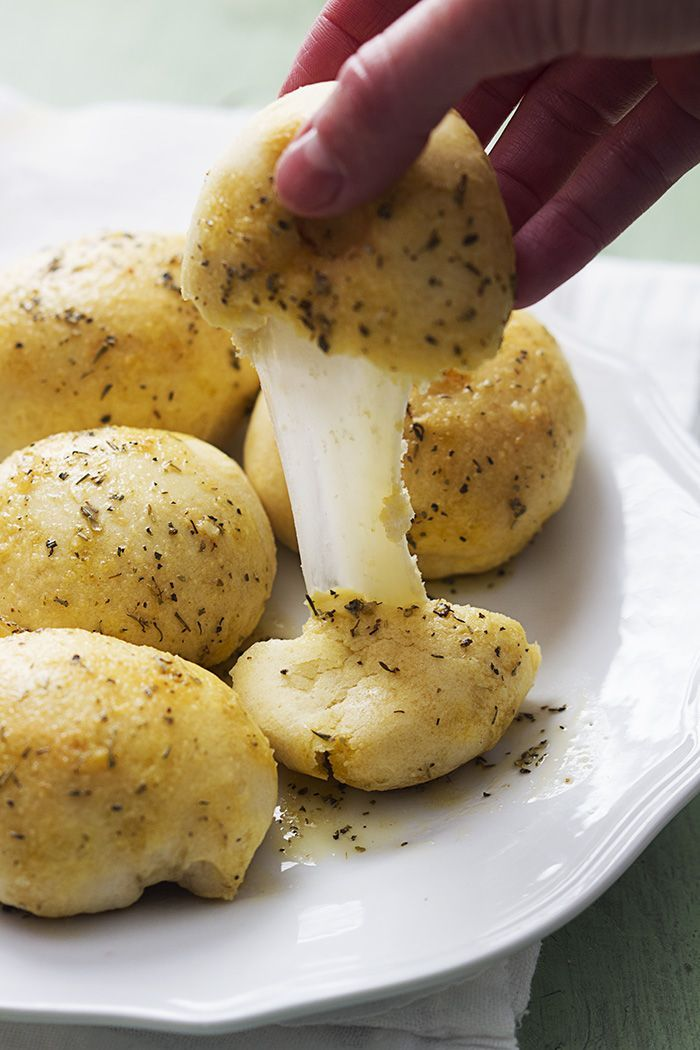 Garlic Parmesan Cheese Bombs--I'll be using Immaculate refrigerated biscuits from whole foods! (Better ingredients)