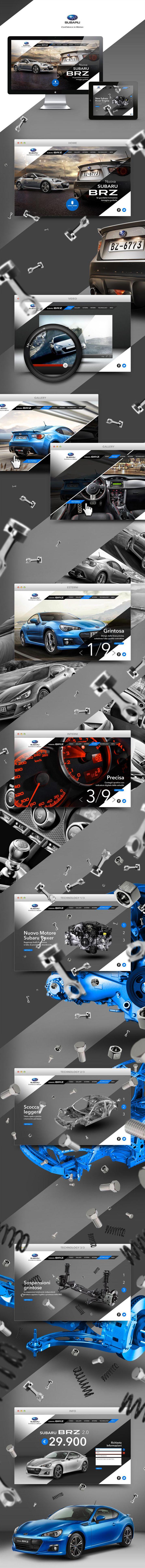 Diagonalen scheinen grad schwer angesagt zu sein ;) | Subaru BRZ Website | Fabio Minerva