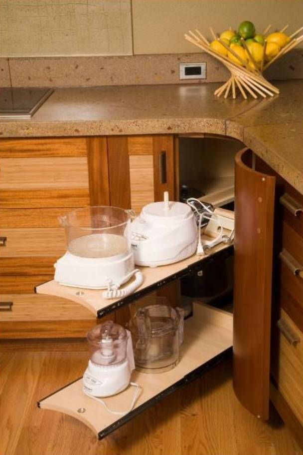 small kitchen appliance storage