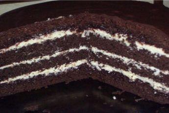 Торт Шоколадный на кипятке. Готовится очень быстро