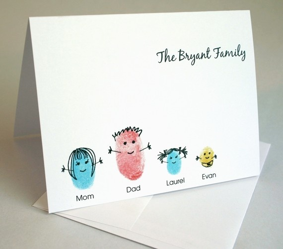 thumbprint family card.