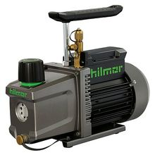 Hilmor two-stage rotary vane vacuum pump has been retooled with features to make pulling vacuum down to 25 microns a breeze. The first thing you will notice is how two durable hoist points allow you to transport your vacuum pump with ease. Simply attach the hilmor HVAC/R Carrying Strap, throw it over your shoulder and get to work. Several innovative features also help make changing oi...