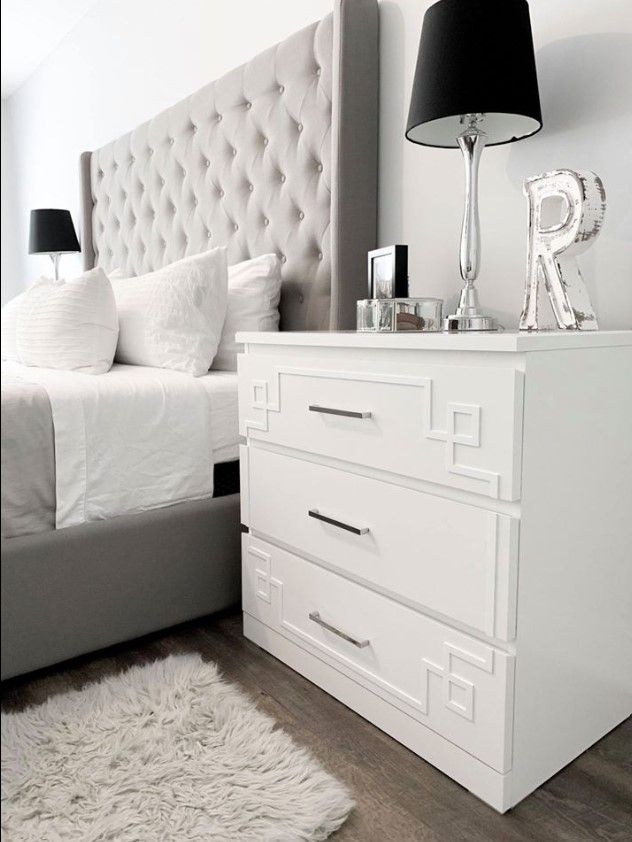 Pippa 3 Kit For Ikea Malm 3 Drawer Dresser With Images Ikea Bedroom Furniture Furniture Overlays