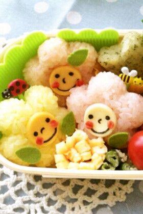 簡単☆キャラ弁☆お花畑のお弁当♪