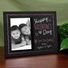 Personalized Happy Valentines Day Picture Frame Custom Message Love Photo Frame