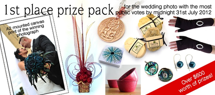 1st prize for the Wedding Photo with the most public votes by midnight 31st of July 2012