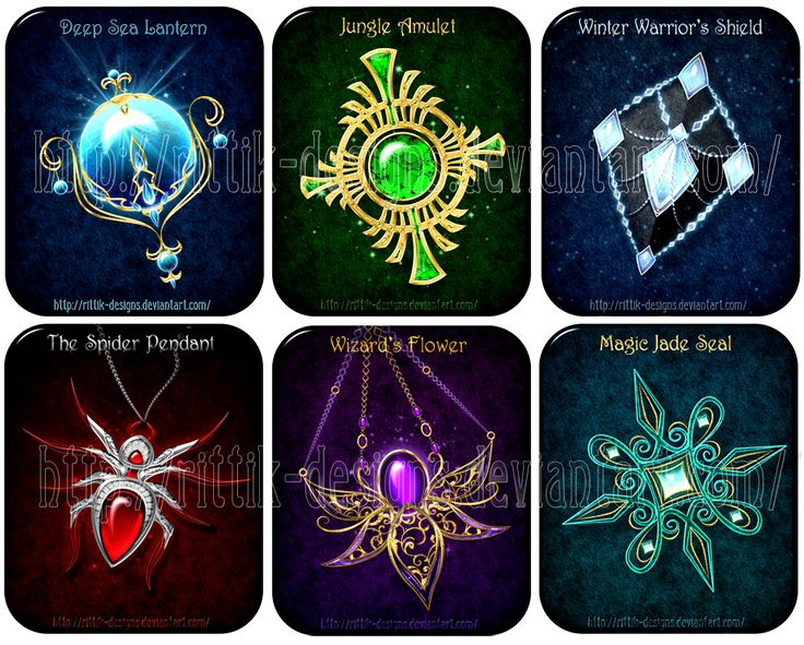 Magic items (set 10) - Sale! by Rittik-Designs on DeviantArt