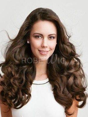 Perruque cheveux naturels minutieuse ondulée longue classique full lace - Photo 1