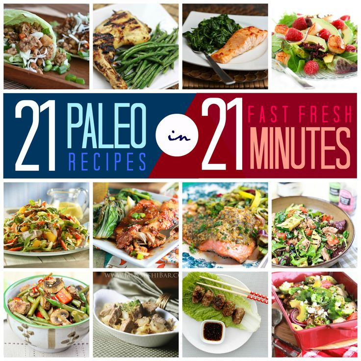 Get skinny fast with these quick and simple low-carb meals. You can make them all in less that 21 minutes!