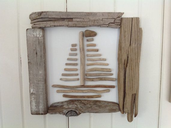 Driftwood sailboat Driftwood art Sailboat art Beach home decor Artist canvas Recycled artwork Sailboat pictures Sailboats Sailing decor