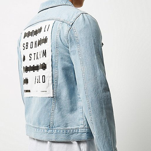 Bleach back print denim jacket - denim jackets - coats / jackets - men http://www.99wtf.net/young-style/urban-style/what-is-urban-fashion/