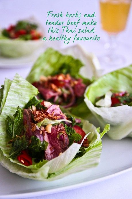 Thai Beef Salad Cups from @Lorraine Elliott