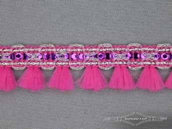 Klosjesband 19mm fuchsia - paars