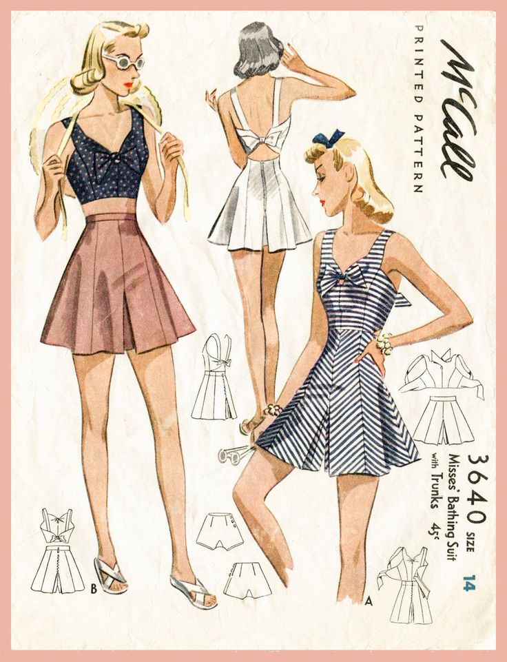 40s 1940s PICK YOUR SIZE bust 32 34 36 38 vintage women's sewing pattern crop top playsuit shorts beach romper English & French repro by LadyMarloweStudios on Etsy https://www.etsy.com/au/listing/218475439/40s-1940s-pick-your-size-bust-32-34-36