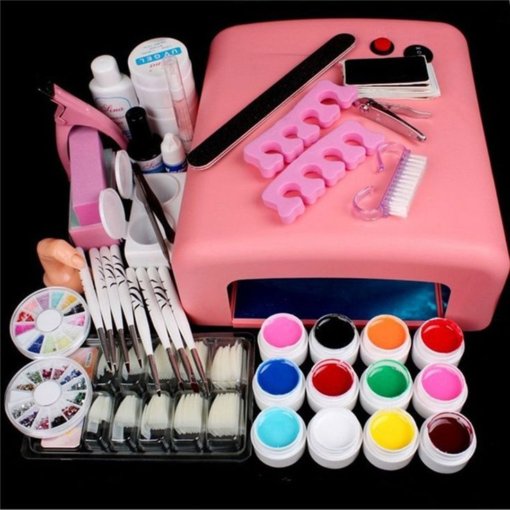 (36.88$)  Buy here - http://ai0da.worlditems.win/all/product.php?id=32794748177 - 36W Nail Lamp Dryer UV Gel Nail Kit Sets Gel Polishes Tips Builder Gel False Nail Tips Cutter Manicure Nail Art Tool Kits