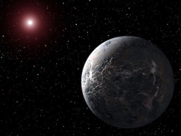 EPIC 201367065 is a red M-dwarf about half the size and mass of our Sun. It lies at a distance of 147 light-years.  The star ranks among the top 10 nearest stars known to have planets. Its proximity means it's bright enough for astronomers to study the planets' atmospheres to determine whether they are like Earth's atmosphere and possibly conducive to life.  The three exoplanets are 2.1, 1.7 and 1.5 times the size of Earth. Image credit: NASA.
