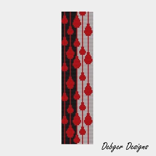 Dangles  Loom Bracelet Cuff Pattern SAVING buy 2  3rd by LoomTomb, $6.50