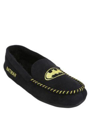 DC Comics Batman Men's Moccasin Slippers from Hot Topic, via Chris Daughtry. m/