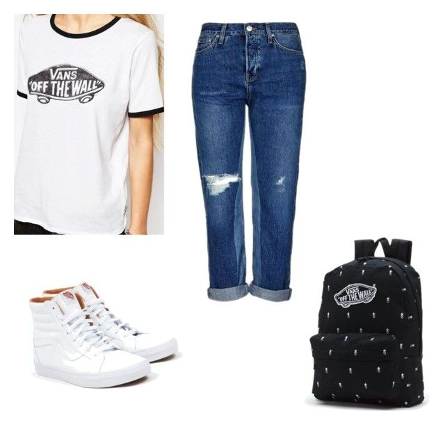 """""""Vans"""" by kennedyk22-1 ❤ liked on Polyvore featuring Topshop and Vans"""
