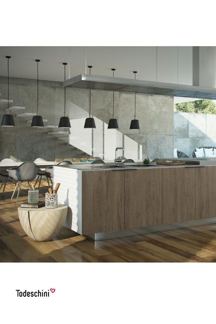 Diseño de cocina en isla, especial para los amantes de la gastronomía y la arquitectura contemporánea. #Diseñodeinteriores #Decoración #Todeschini #ambientes #mueblesamedida #arquitectura #salas