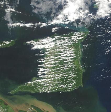 Satellite Photo of Trinidad Island