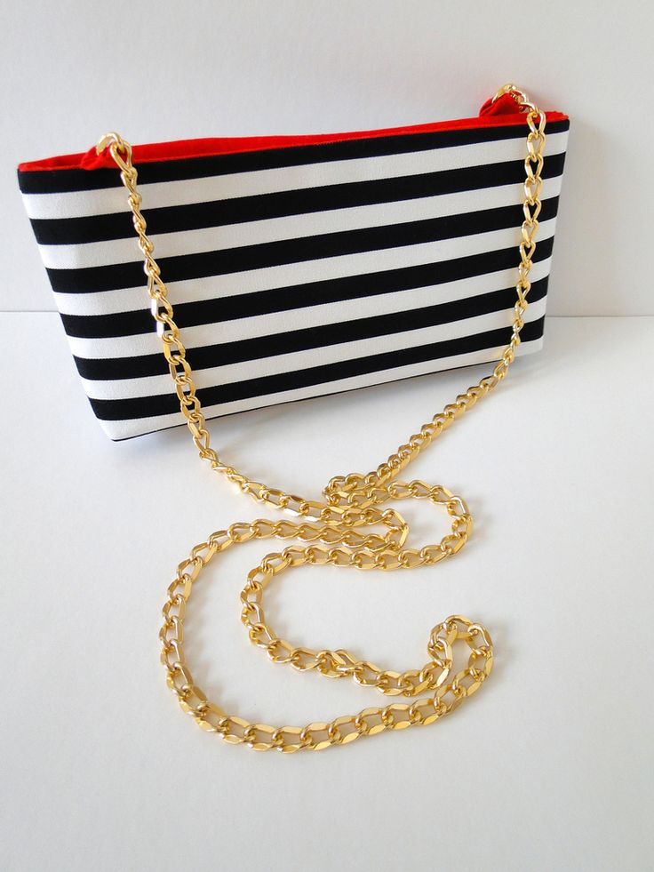 DIY: striped crossbody clutch purse