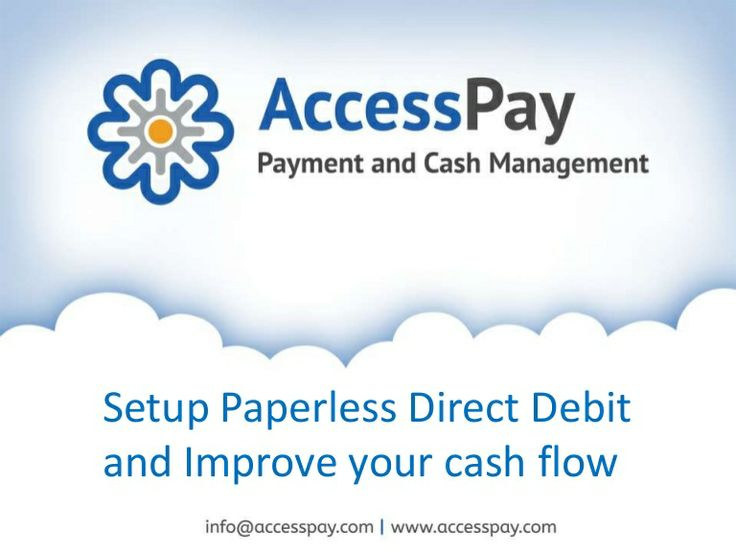 No need for Expensive Software, Low Set Up Cost, Use our expertise cloud based technology solution... Access from anywhere, anytime with AccessPay's Paperless Direct Debit solution.