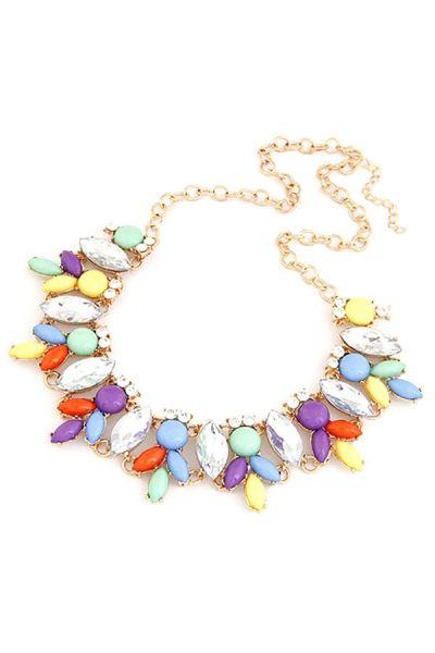 Leaf Faux Stone Necklace