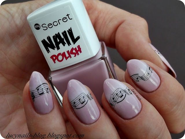 My Secret Nail Polish 276 Mauve Mist i wesołe nutki