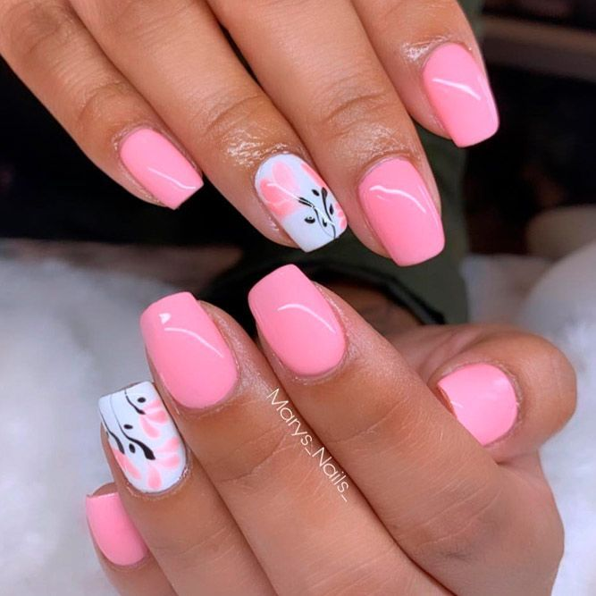 34 Pink And White Nails Trends For Spring And Summer 2020 Light