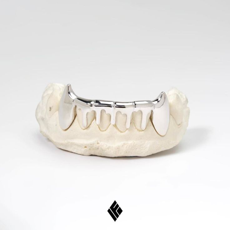 14kt Solid White Gold Bottom 6 Drip Grill custom made for @beef31.  #Grillz #CustomJewelry #IFANDCO