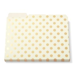 Kate Spade File Folders - Dot. What does she not make? So cute.