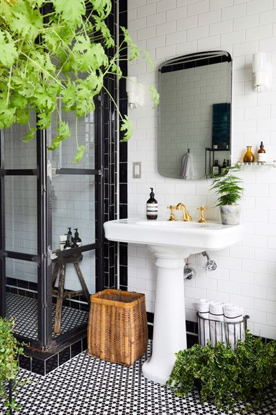 Bathroom Forest - 16 Showers That Give Us Serious Bathroom Envy - Photos    forest in the bathroom, yes please