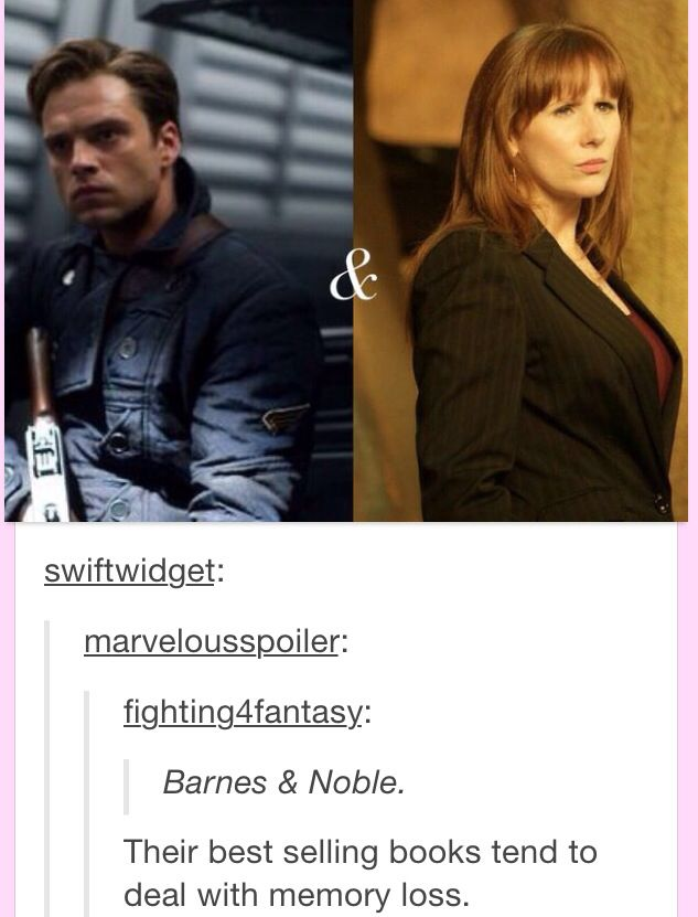 Bucky Barnes - Donna Noble // I THOUGHT OF THIS. DAHHHHH SOMEONE DID THE THING. (Only I didn't think of that last part - *slap!*)