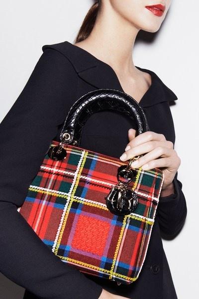 Dior Tartan Handbag