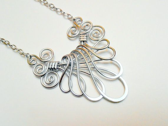 VICTORIAN FAN NECKLACE  Choose your own Color by RefreshingDesigns, $20.00