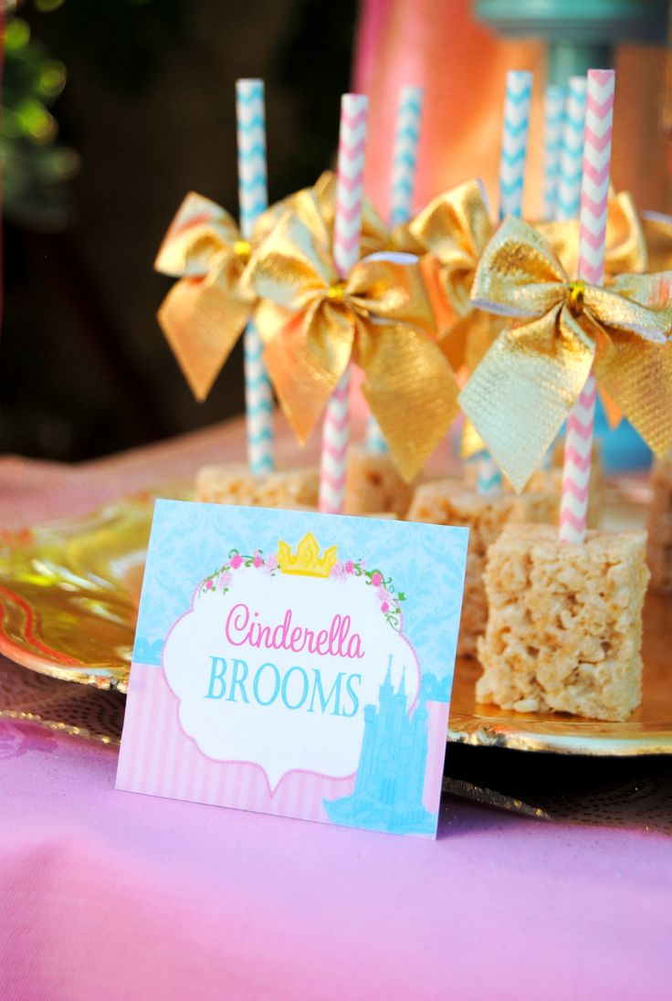 PRINCESS Party - Princess CANDY LABELS - Birthday- Blue