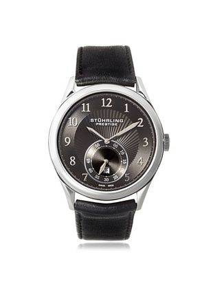 59% OFF Stuhrling Men's 171B3.33151 Prestige Adamant Black Stainless Steel Watch