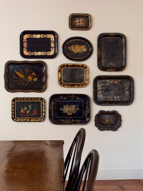 Tole platters Love Where You Live: At Home in the Country by Joan Osofsky