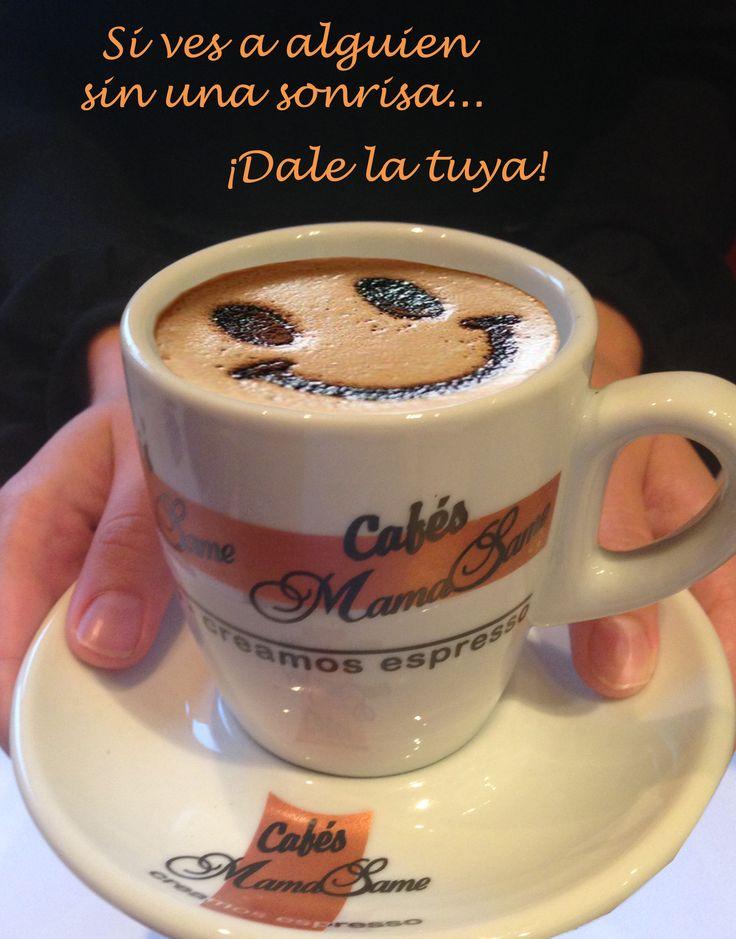 Tarea de hoy #Viernes :  Si ves a alguien sin una #sonrisa , dale la tuya! #smile #friday #coffee #cafe