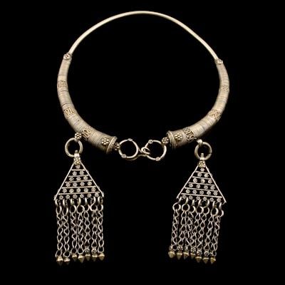 Lambadi Torque | Andhra Pradesh, India | Circa Early 20th Century.  Worn by the women of the Lambadi tribe signifying their marriage and respectability as an adult housholder