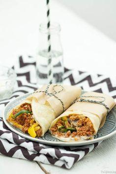 Wraps Burritos vegetarisch Couscous schnell gesund