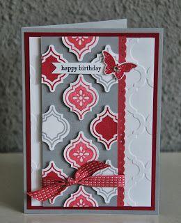 C@ro's kaartjes: Mosaic Madness verjaardagskaart