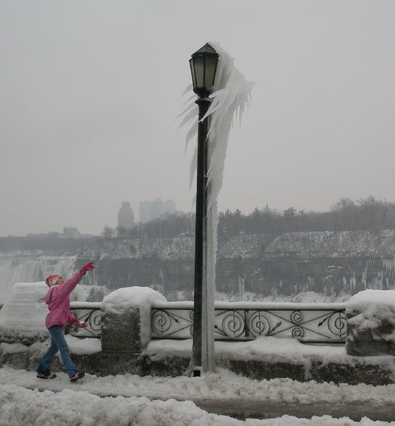 Niagara Falls Canada in January