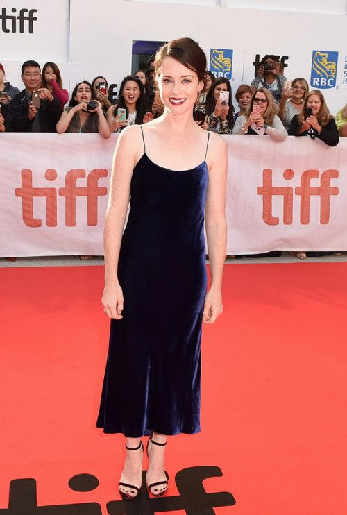 Claire Foy in Tibi at the Toronto Film Festival premiere for Breathe on September 11, 2017.
