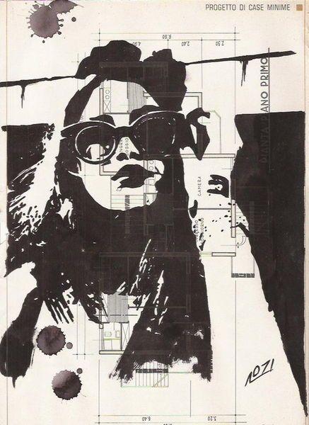 'Viktoriya - Zeichnung / Malerei auf Buchseite' by Layla Oz on artflakes.com as poster or art print $16.63
