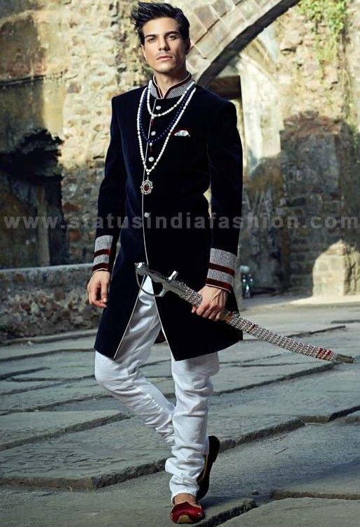Mens wear groom wedding dress groom sherwani designer for Mens dress attire for wedding