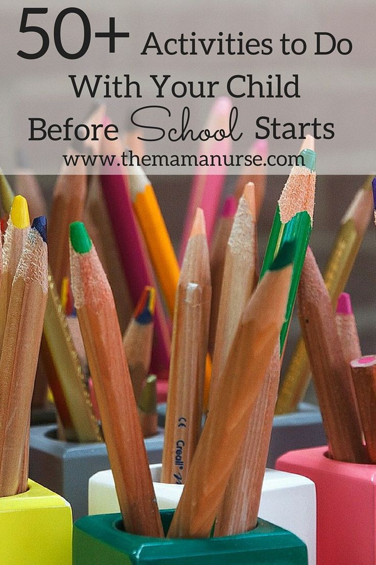 50+ Summer Activities to Do With Your Child Before School Starts. Lots of activities that you can do with your kids this summer to spend quality family time. http://themamanurse.com/before-school-starts/