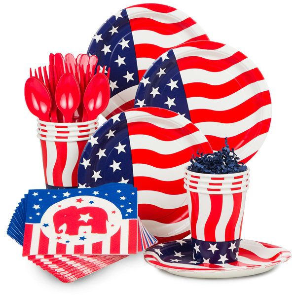 Check out Republican Party Standard Tableware Kit (Serves 8) | Flying Colors…